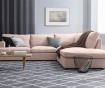 Десен ъглов диван Charles Pink
