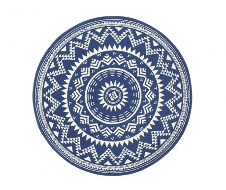 Preproga Valencia Blue Cream Round