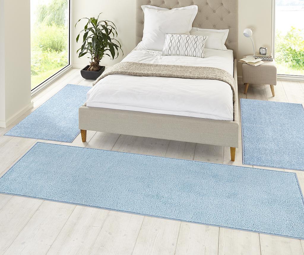 Covor Pure Runner Blue 80x300 cm
