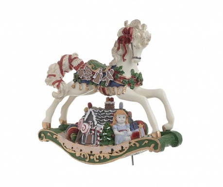 Decoratiune muzicala Christmas Horse