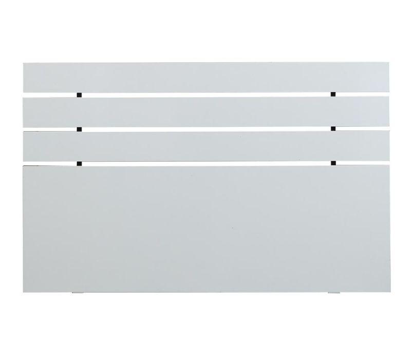 Tablie de pat Fuga Shiny White 100x150 cm