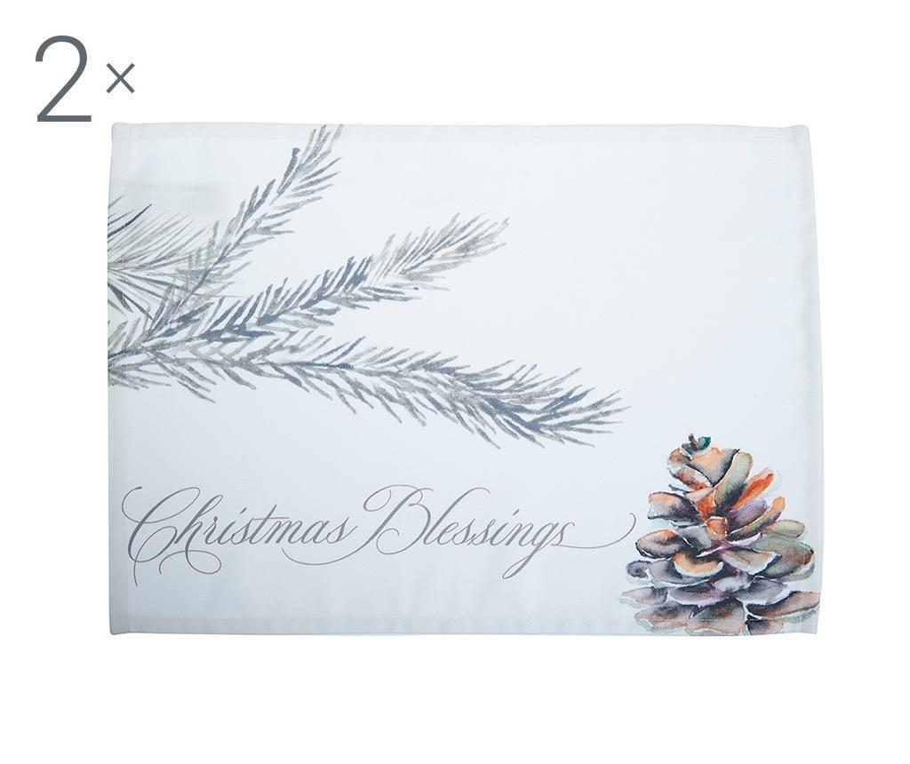 Set 2 podmetača Christmas Blessings 33x45 cm