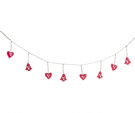 Girlanda Red Hearts