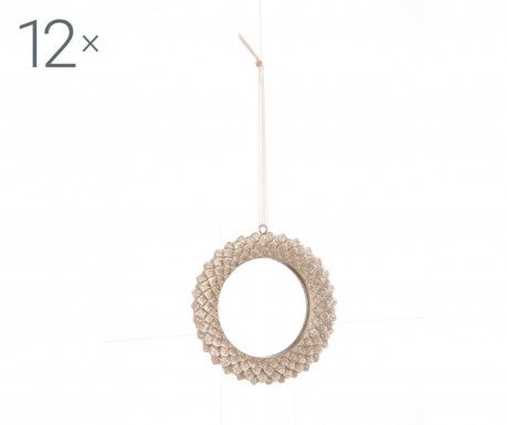 Set 12 decoratiuni suspendabile Champagne Round
