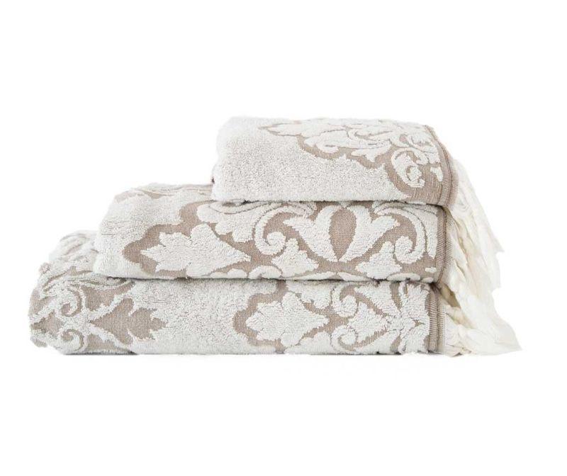 Kopalniška brisača Vintage White 50x90 cm