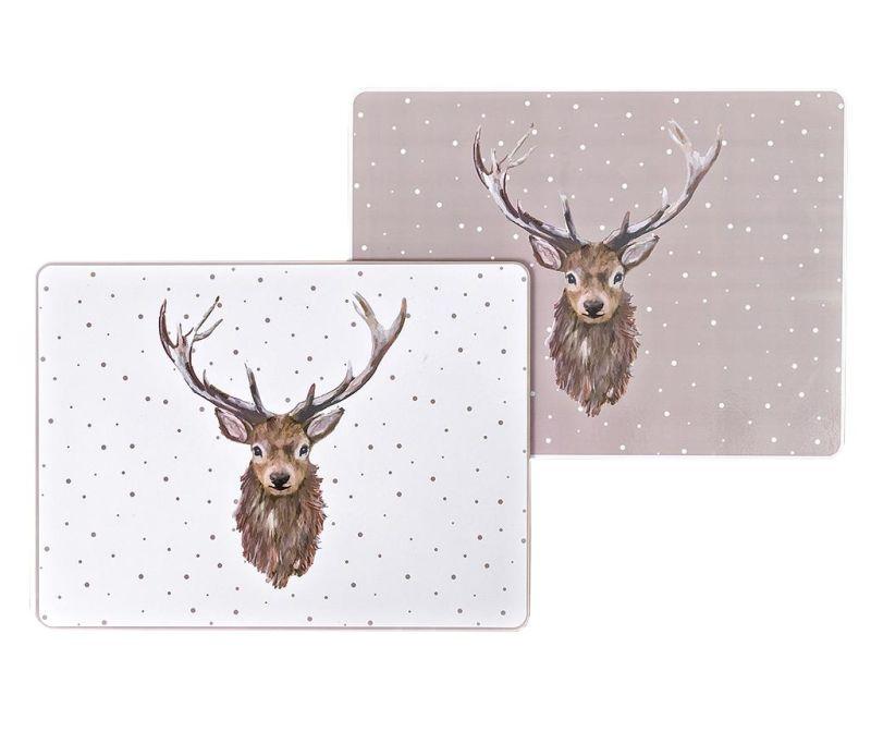 Set 4 individualuri Rory Cream and White 30x40 cm