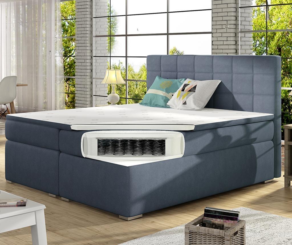 Boxspring krevet Alice Purple 160x200 cm