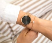 Set ženski ručni sat i narukvica Emily Westwood Smooth Dark Glam Rose