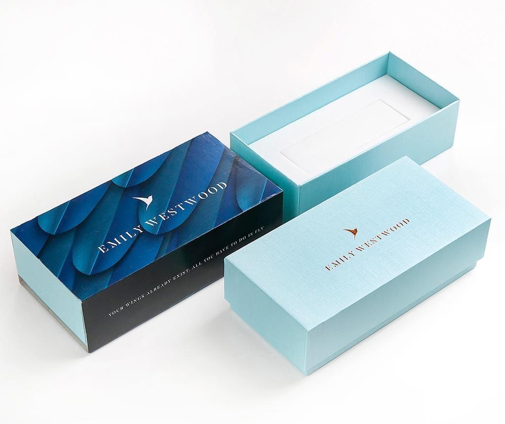 Комплект дамски ръчен часовник и гривна Emily Westwood Sarah Glam Smooth Rose
