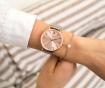 Set ženski ručni sat i narukvica Emily Westwood Sarah Glam Silver