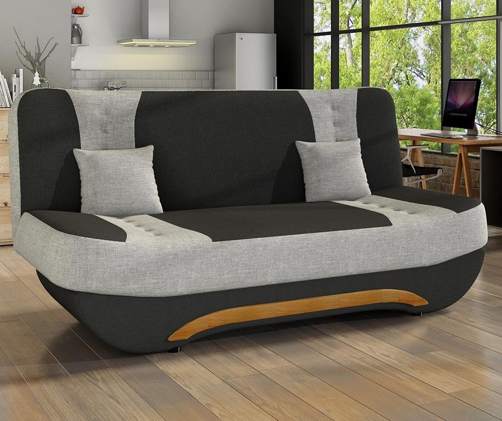 Sofa na razvlačenje Ewa Black Grey