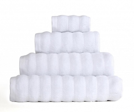 Πετσέτα μπάνιου Frizz White 50x90 cm
