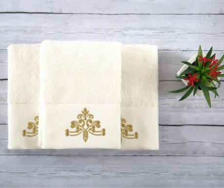 Sada 3 ručníků Dora Ecru 30x50 cm