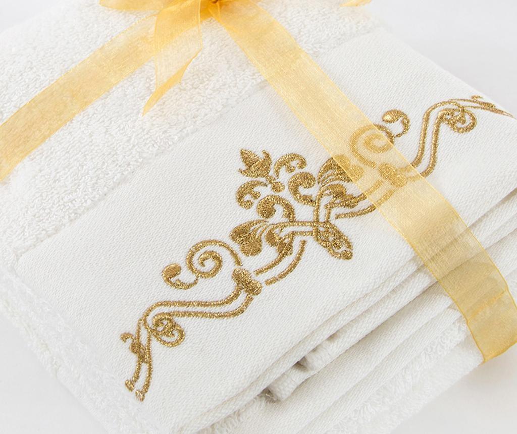 Комплект 2 кърпи за баня Dora Ecru 50x90 см