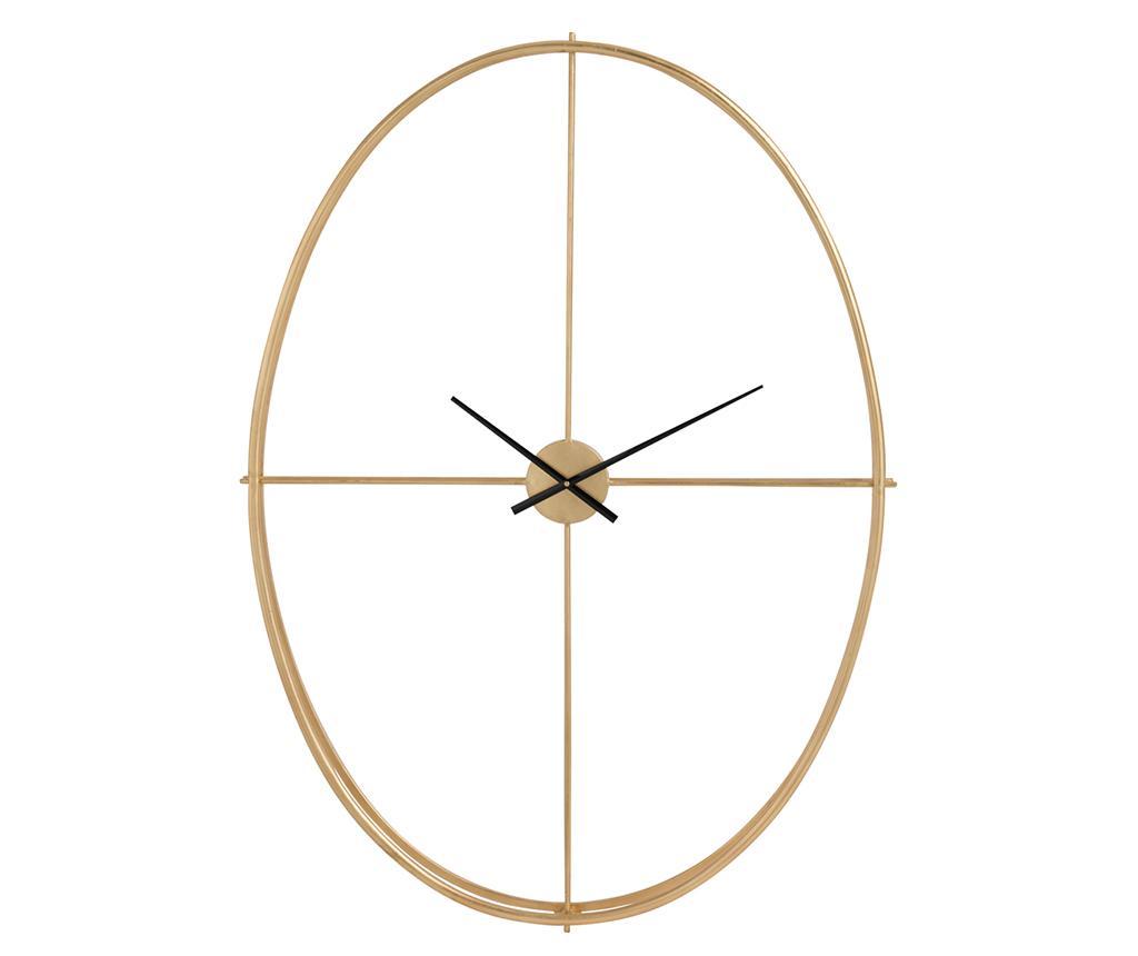 Ceas de perete Noble Oval M - J-line, Galben & Auriu