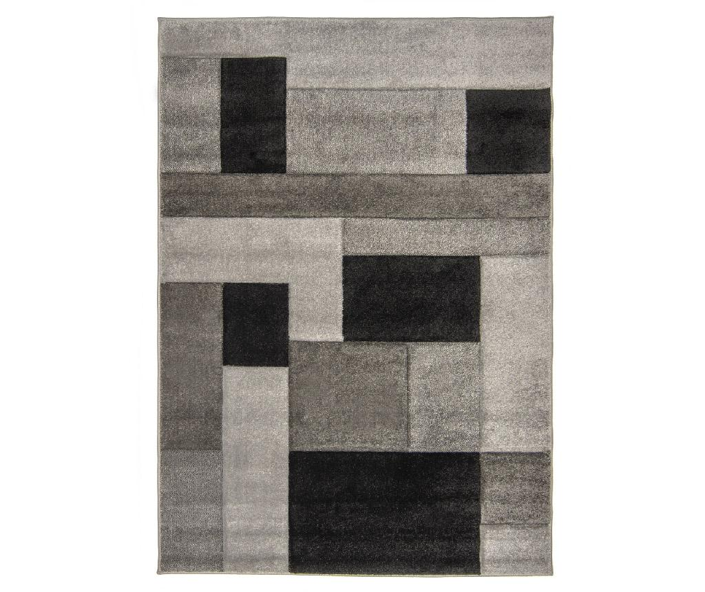 Covor Cosmos Black Grey 80x150 Cm - Flair Rugs, Gri & Argintiu
