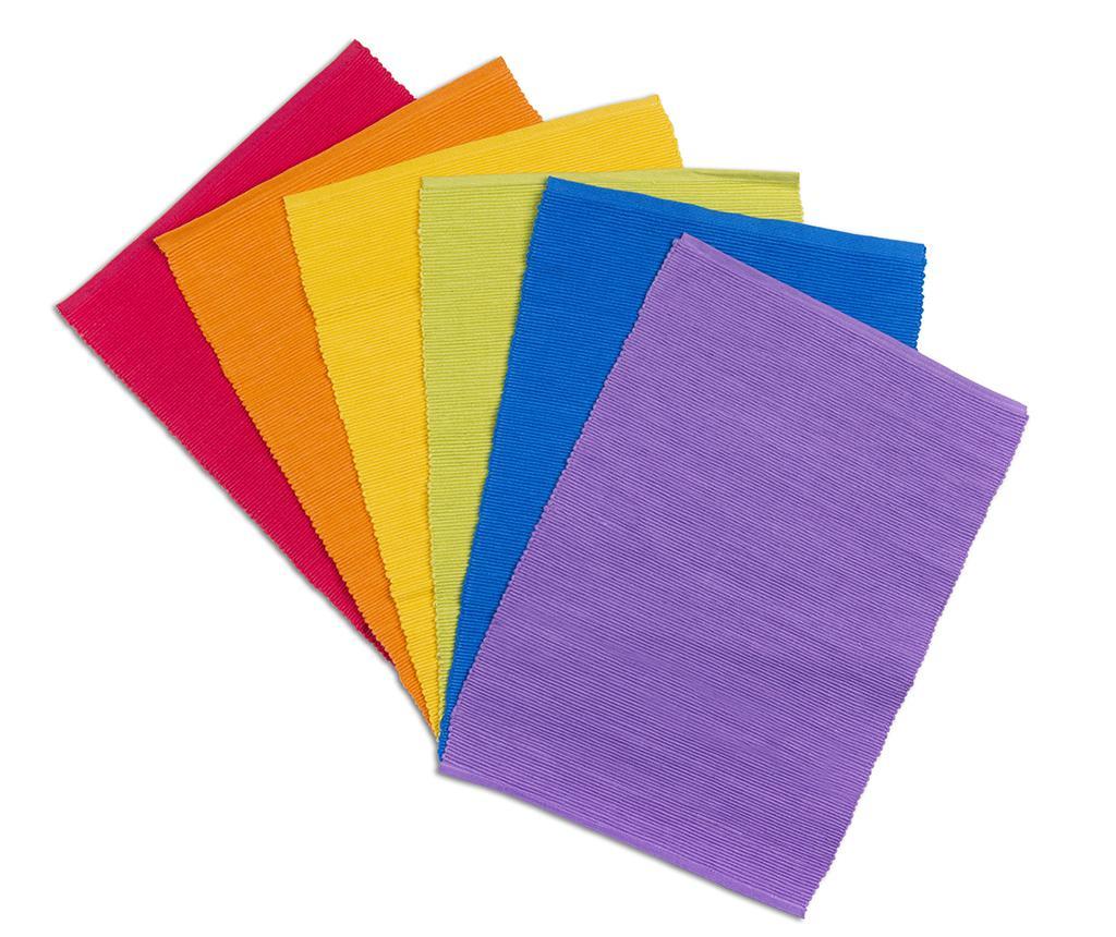 Set 6 suporturi farfurii Rainbow 30x43 cm - Excelsa, Multicolor de la Excelsa