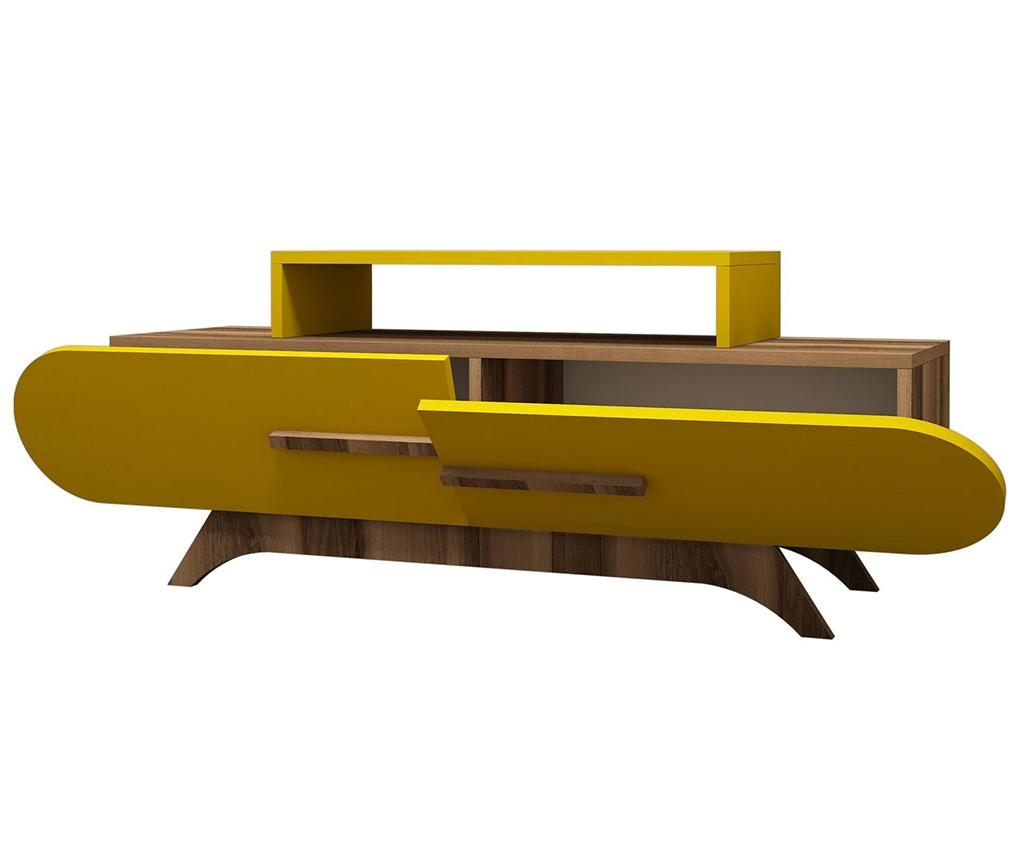 Comoda TV Rose Walnut Yellow - Hommy Craft, Galben & Auriu