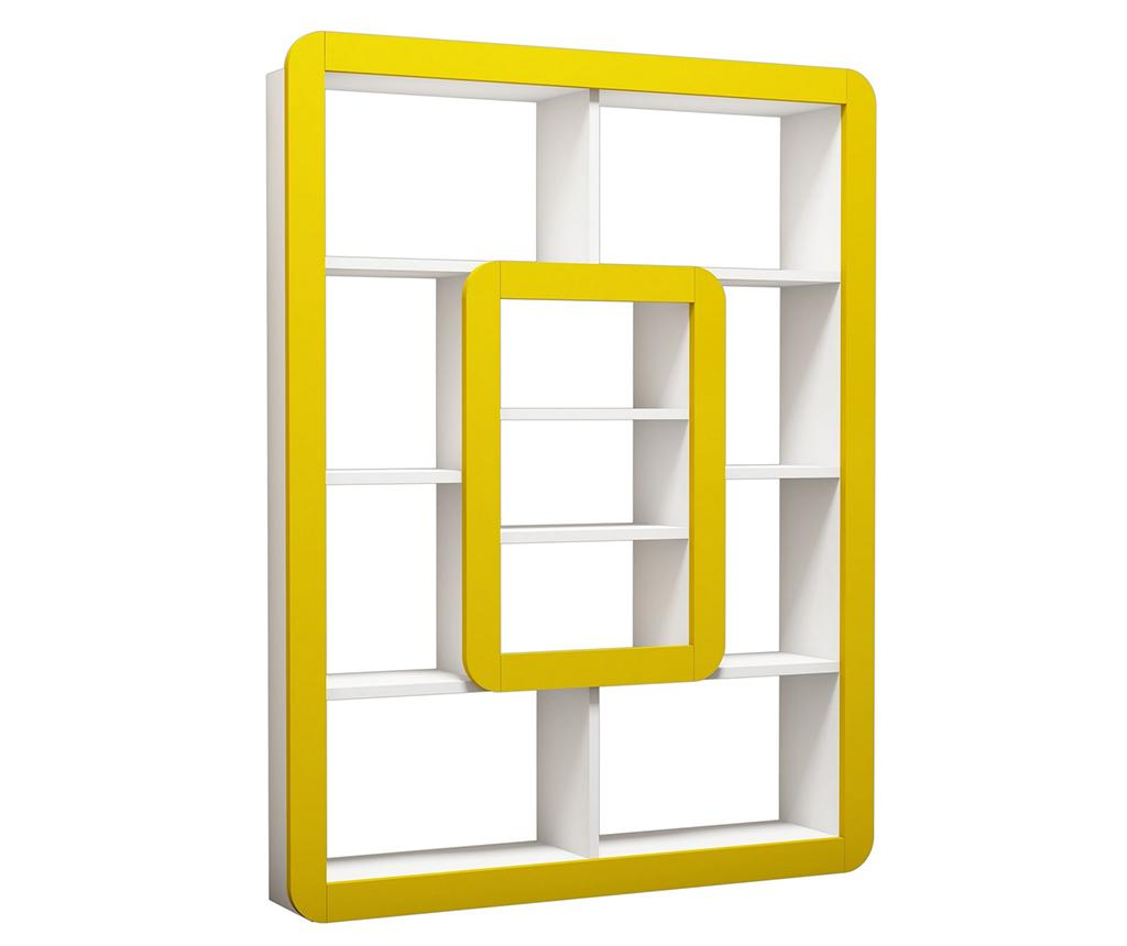 Corp biblioteca Orkide White Yellow - Hommy Craft, Galben & Auriu