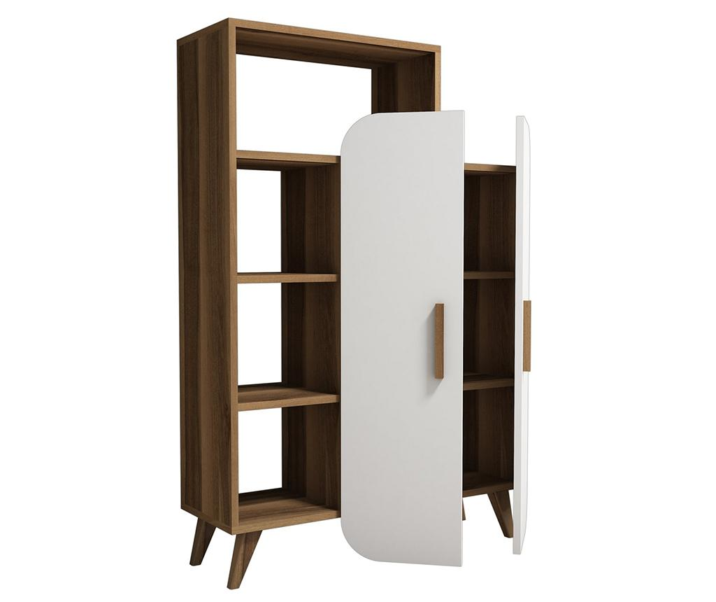 Corp biblioteca Form Walnut White - Hommy Craft, Maro