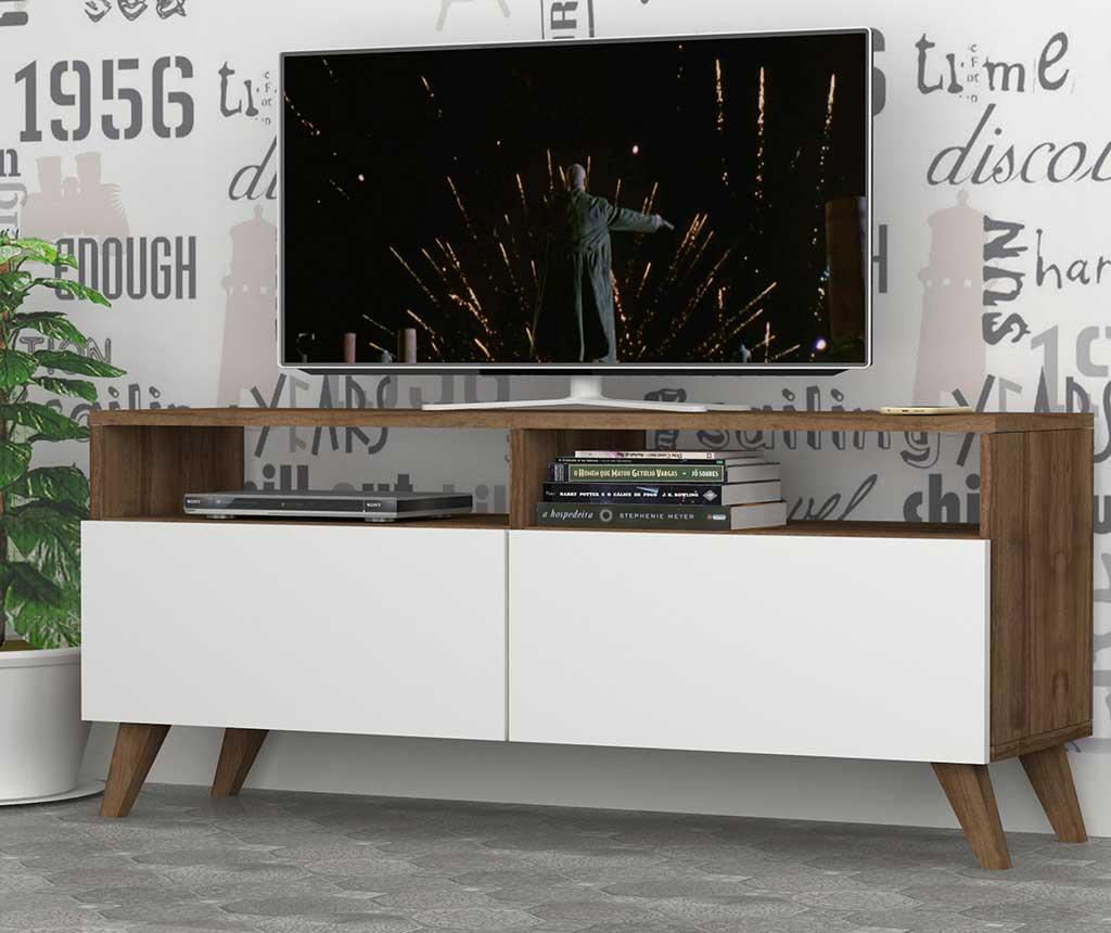 Comoda TV Encoy - DMODUL, Alb,Maro