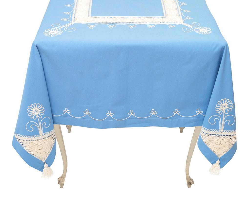 Fata de masa Moselle Blue 140x180 cm - Valentini Bianco, Albastru