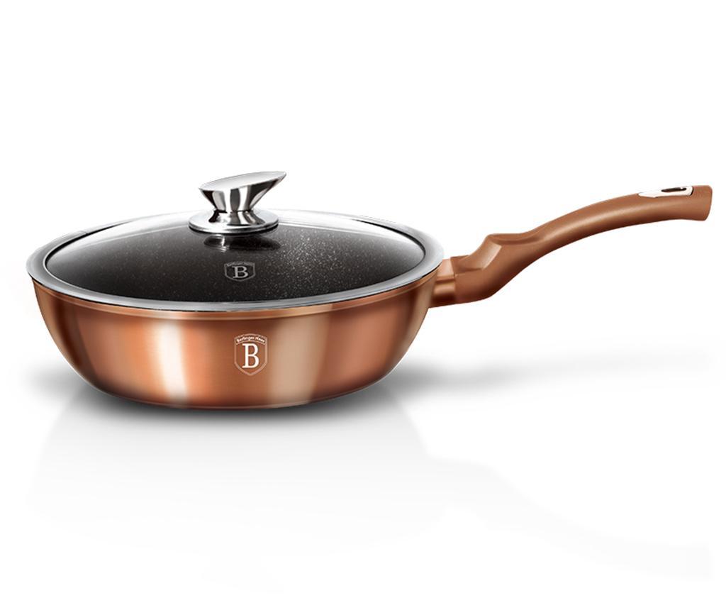 Tigaie cu capac Metallic Rose Gold 24 cm - Berlinger Haus, Galben & Auriu