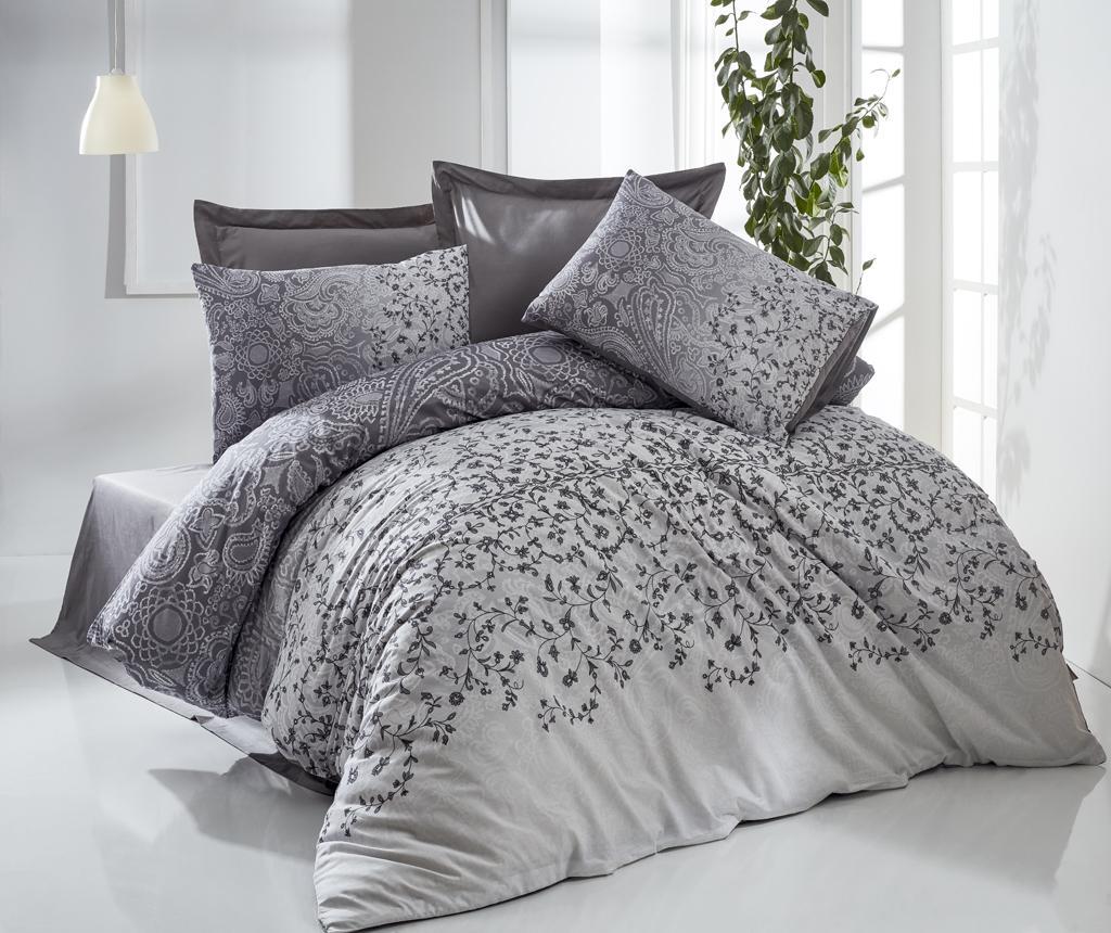 Set de pat Double Ranforce Jomi Grey - The Club Cotton, Gri & Argintiu