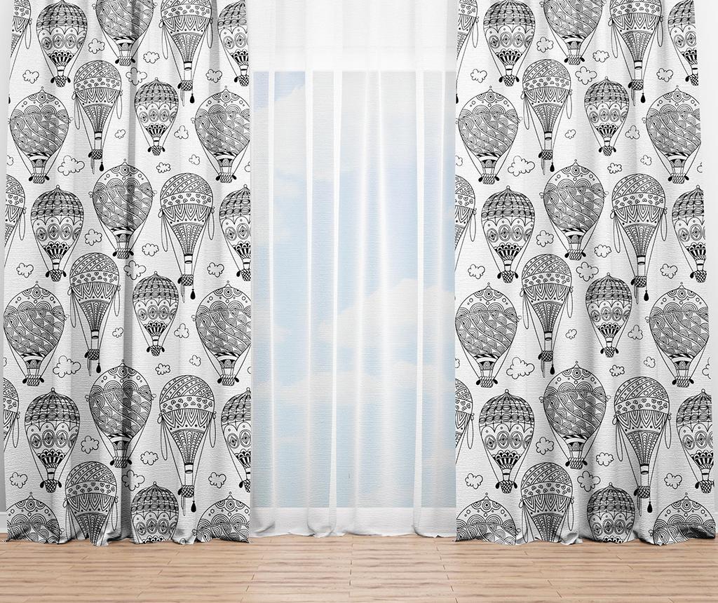 Draperie Air Balloons 140x240 cm - Oyo Kids, Alb