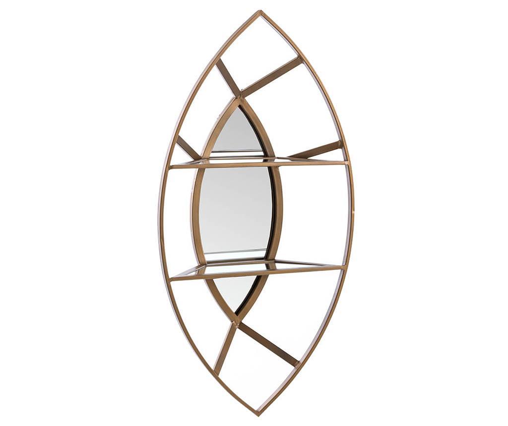 Raft de perete cu oglinda Owen - Garpe Interiores, Galben & Auriu