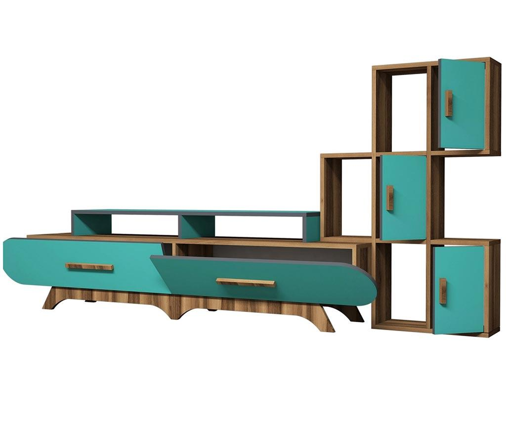 Ansamblu corpuri biblioteca Millicent Turquoise - Hommy Craft, Albastru