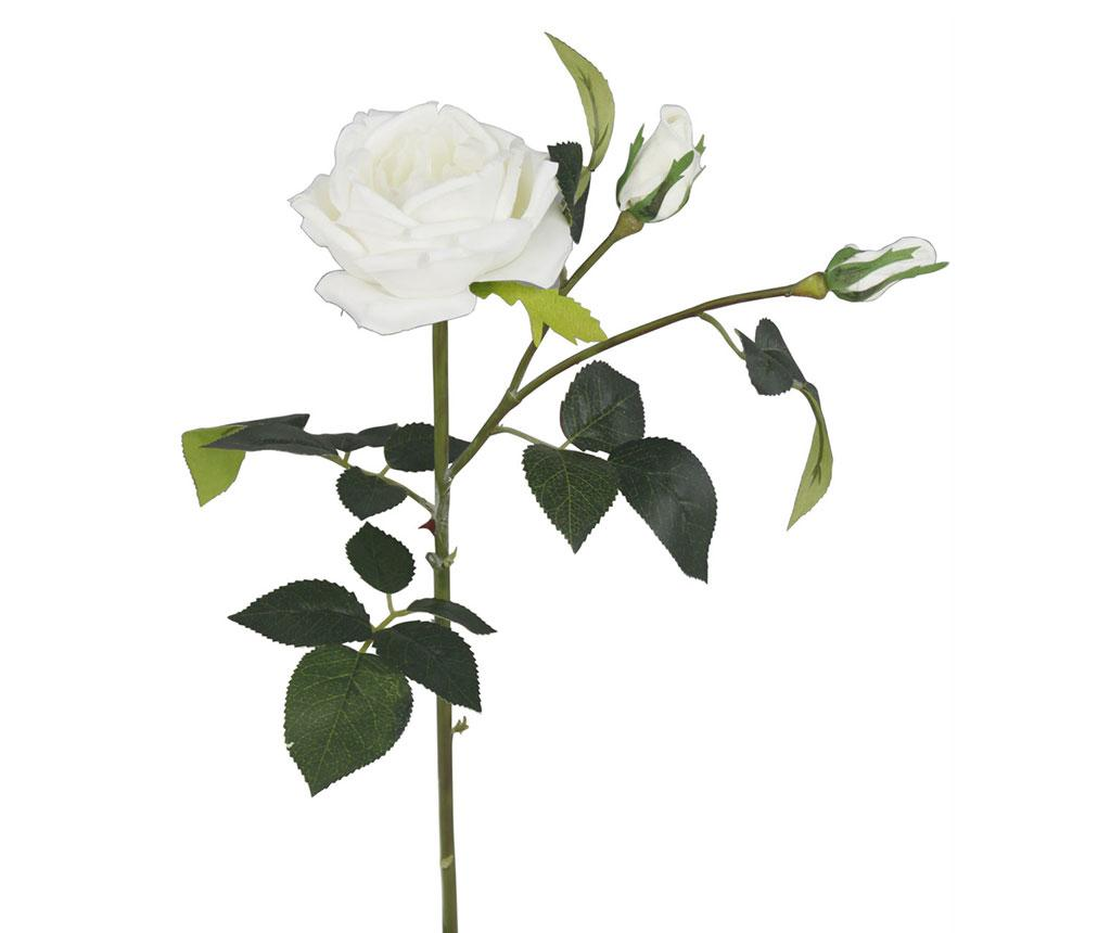 Floare artificiala Cream Cabbage Rose - CIMC Home, Alb