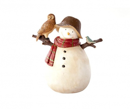Decoratiune Snowman With Owl