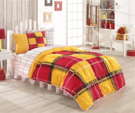 Posteljnina in odeja Single Ranforce Supreme Supporter Yellow and Red