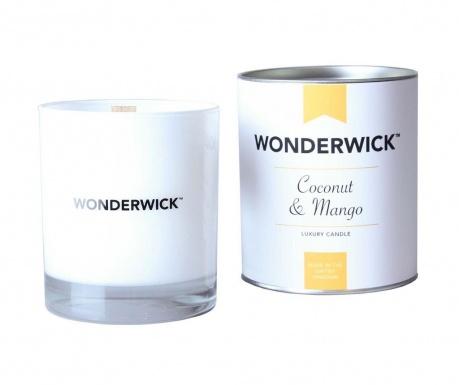 Lumanare parfumata Wonderwick Coconut and Mango Blanc