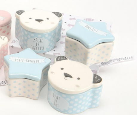 Комплект 4 кутии за спомени Bear Star Blue
