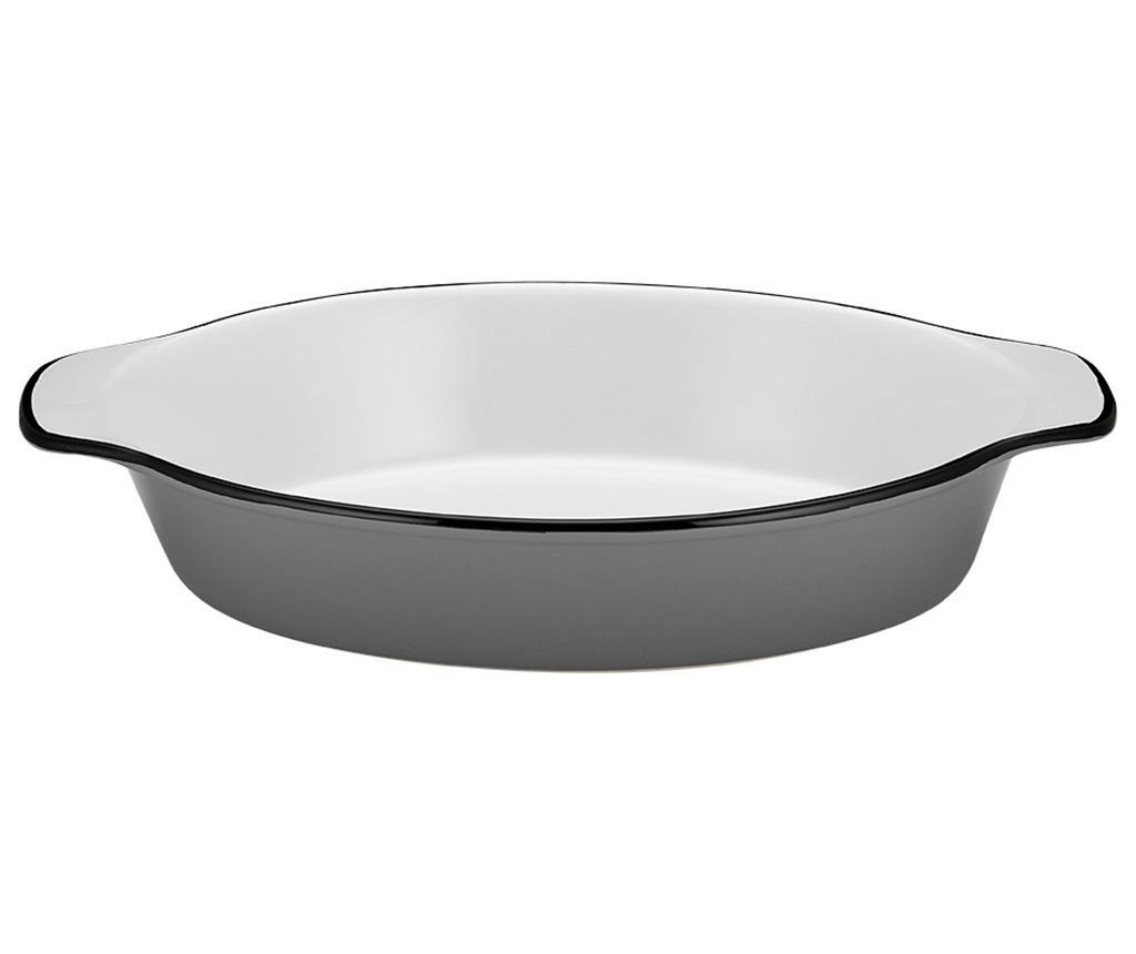 Posoda za peko Mason Oval Handle Grey S