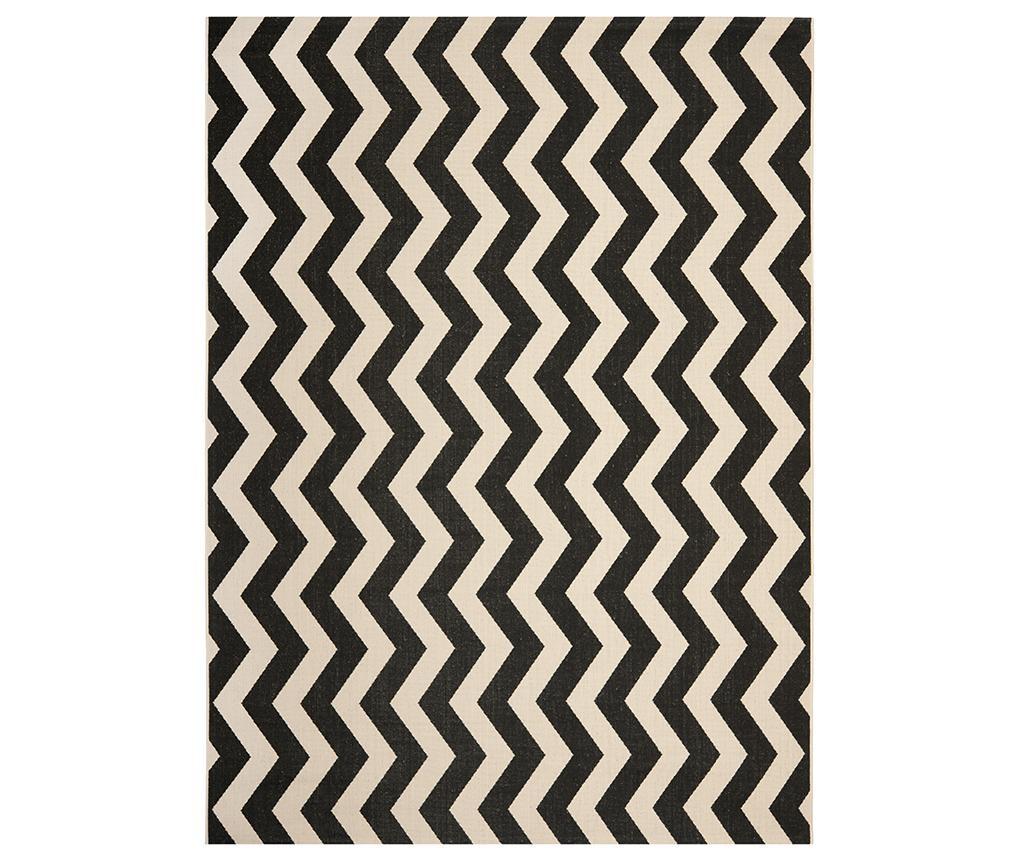 Covor Amalfi Black Beige 160x231 cm