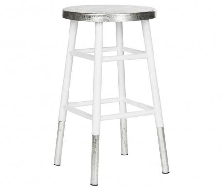 Barová stolička Lombardo White Silver