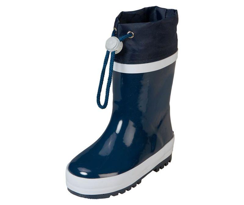 Cizme de ploaie copii Warm Navy and White 32-33