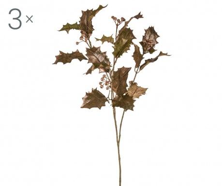 Sada 3 umělých květin Bethany