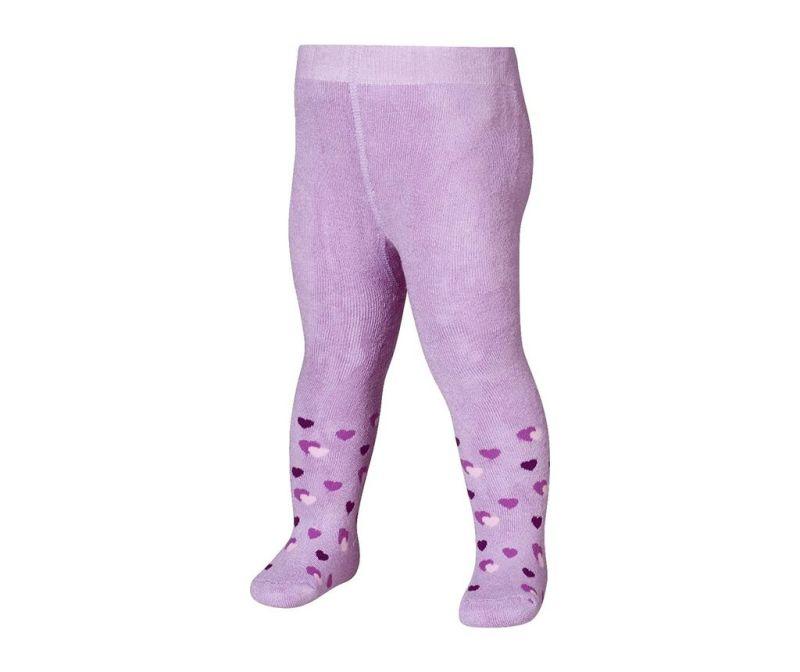 Dětské punčocháče Hearts Lilac 4-5 r.