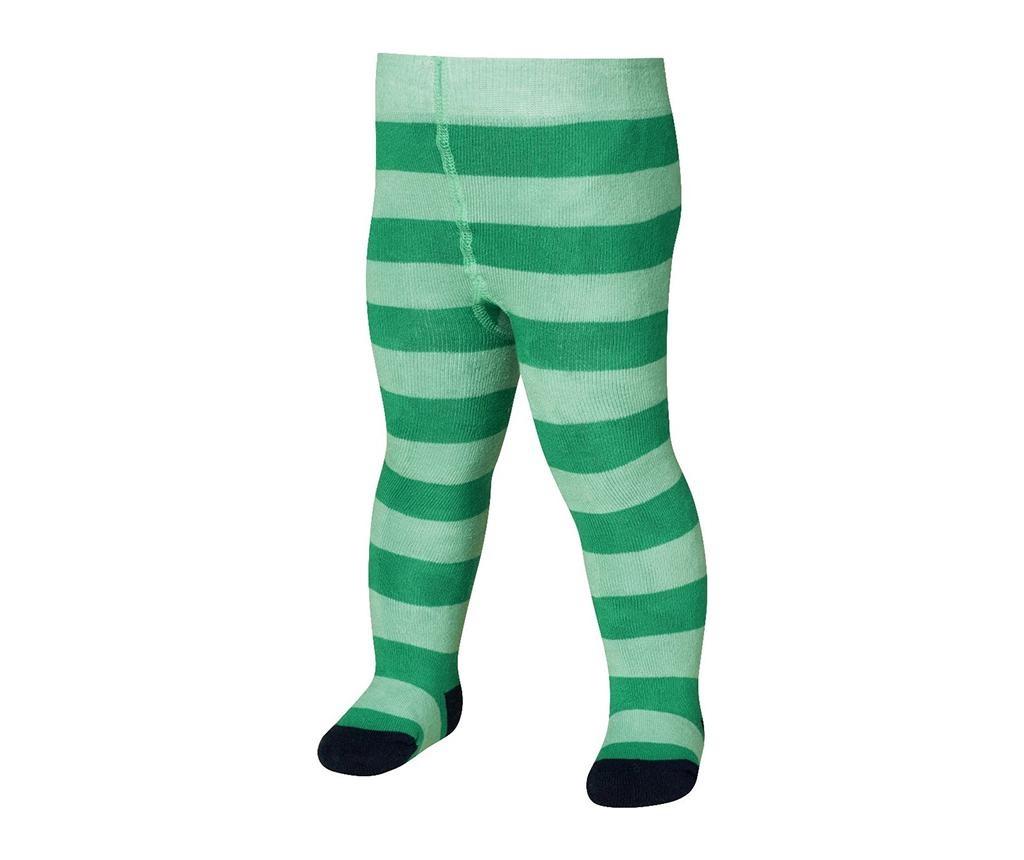 Otroške hlačne nogavice Block Stripes Green 1-2 mesecev