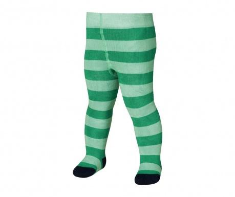 Dětské punčocháče Block Stripes Green 4-5 r.