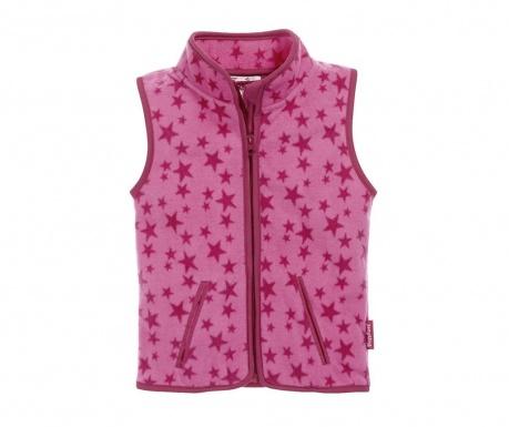 Dětská vesta Stars Pink 10 měs.