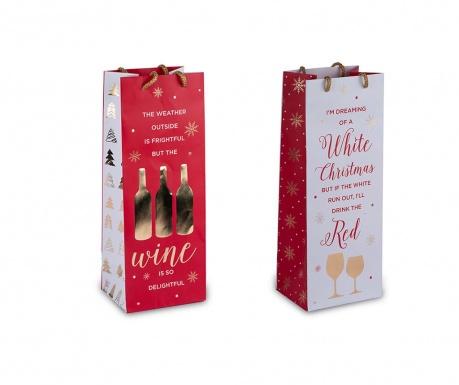 Set 2 darilnih vrečk za steklenice Wine