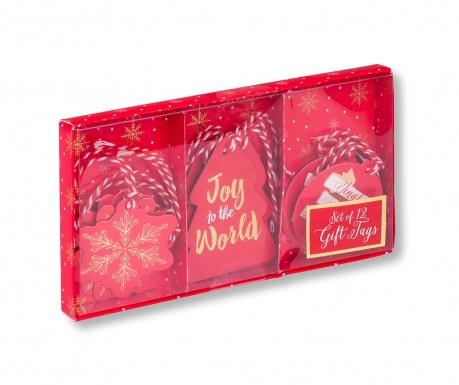 Set 12 darilnih etiket Joy to the World