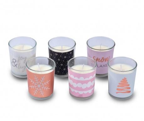 Set 6 dišečih sveč Joy and Snow