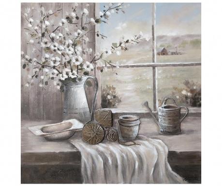 Картина Yarn 100x100 см