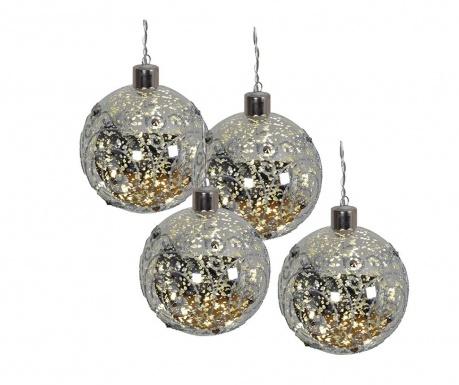 Set 4 ukrasne kuglice Mistic Balls